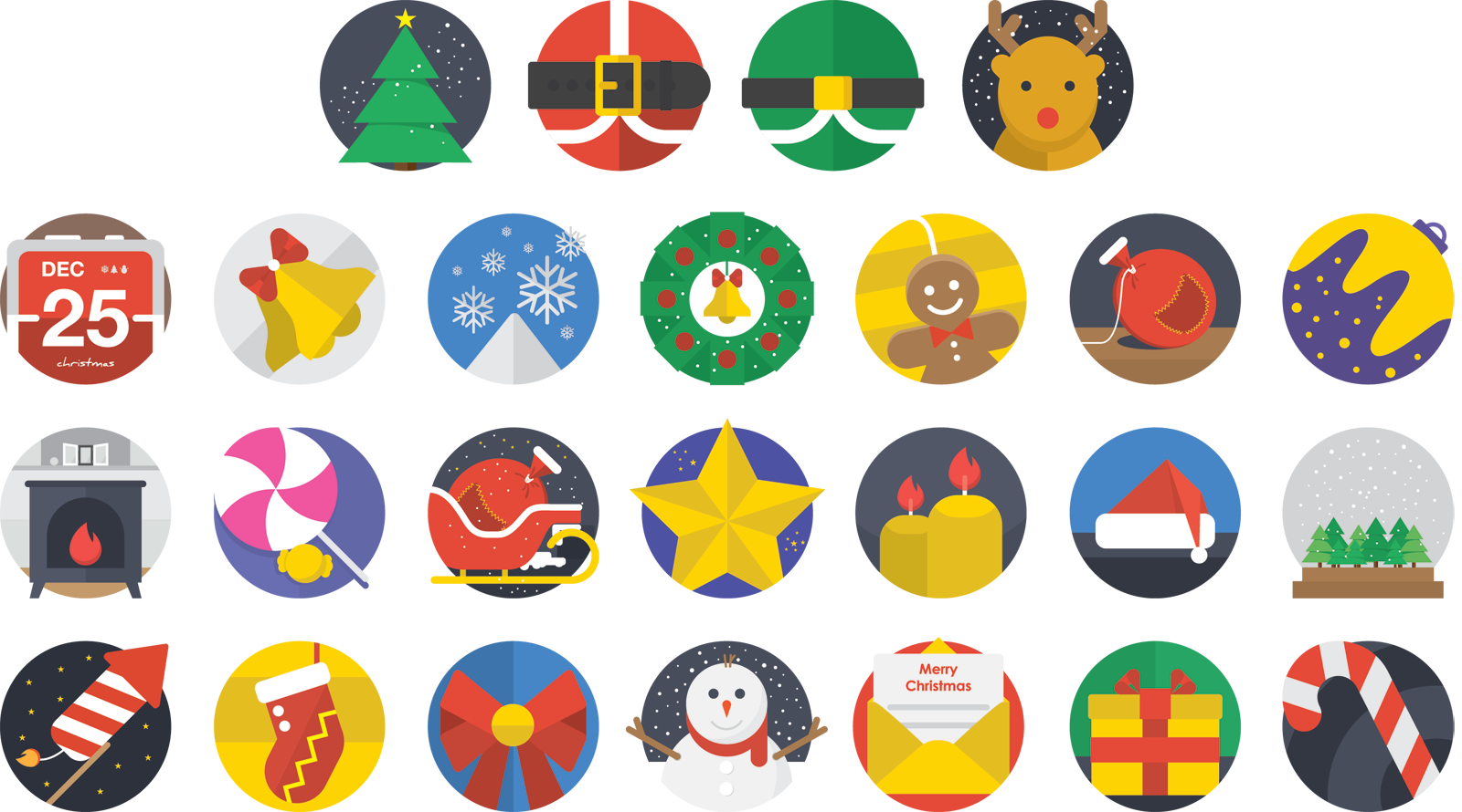 christmas-flat-icons-set-2014