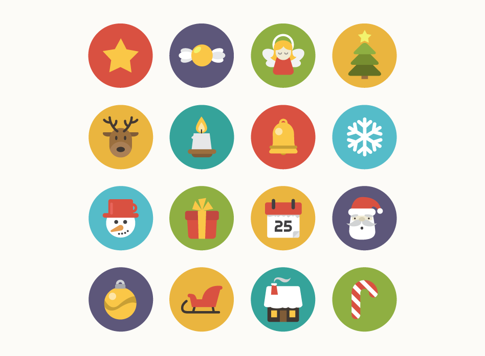 christmas_flat_icons_circle
