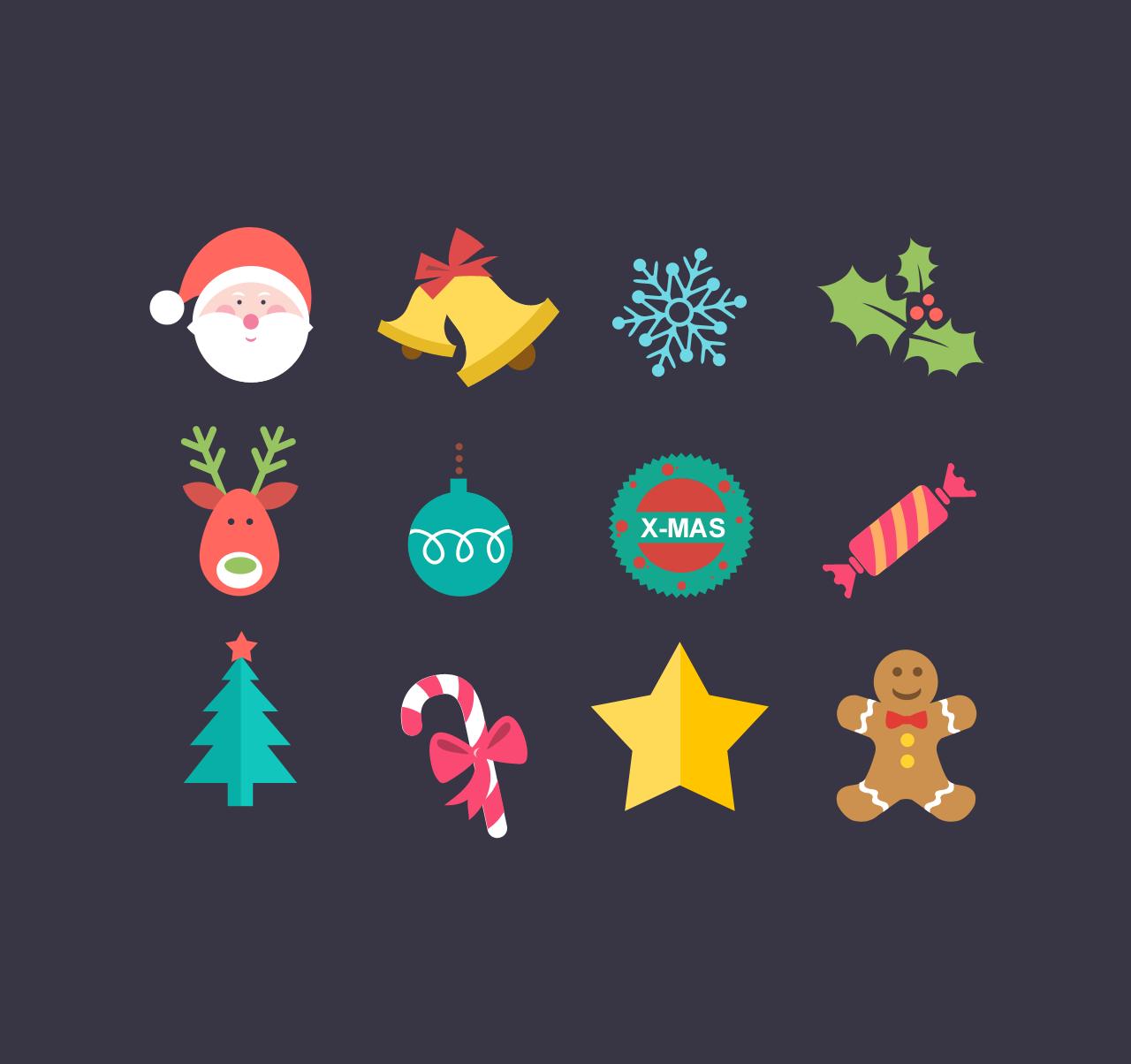 flat-christmas-icon