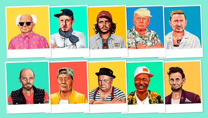 Хипстория — 26 известных персонажей, изображенных как хипстеры